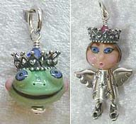 Crown with Joan Miller Face and Frog beads