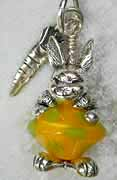Funny Bunny in Lime/Lemon bicone bead