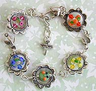 Flower Charmer Bracelet with Mavis Smith Rose beads