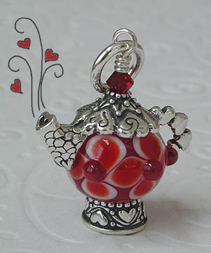Love Teapot components with Susan Simonds bead SS1